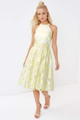 Little Mistress Lemon Midi Dress