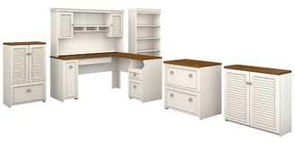 Beachcrest Home Oakridge 6 Piece L-shaped Desk Office Suite
