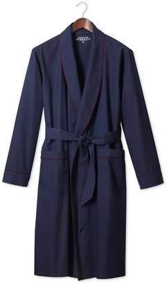 Charles Tyrwhitt Plain Navy Lightweight Robe Size Large
