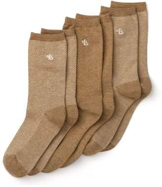 Ralph Lauren Tweed Trouser Socks, Set of 3
