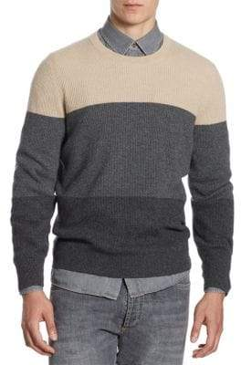 Brunello Cucinelli Colorblock Cashmere Sweater