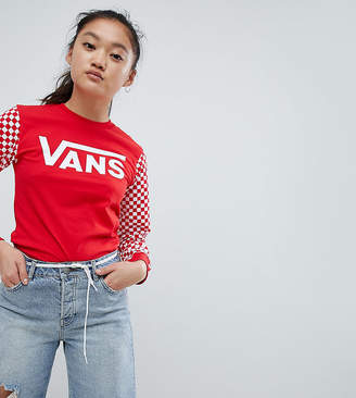 Vans Exclusive Red Sporty Heritage Long Sleeve T-Shirt