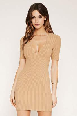 Forever 21 Contemporary Ribbed Mini Dress