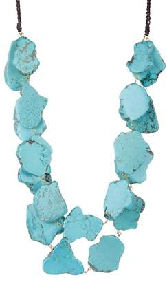 Panacea Chunky Turquoise Double Row Necklace