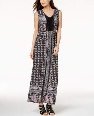 Style&Co. Style & Co Crocheted Maxi Dress, Created for Macy's