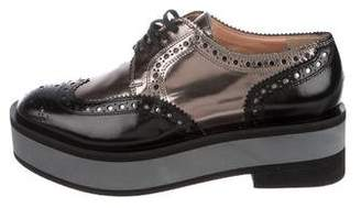 Robert Clergerie Patent Leather Brogue Oxfords