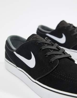 Nike Sb SB Zoom Stefan Janoski Suede Sneakers In Black 333824-067