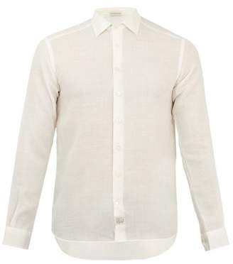 Etro Point Collar Relaxed Shirt - Mens - Ivory