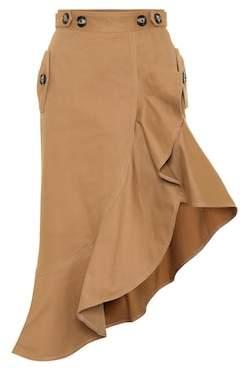Self-Portrait Asymmetric stretch-cotton skirt