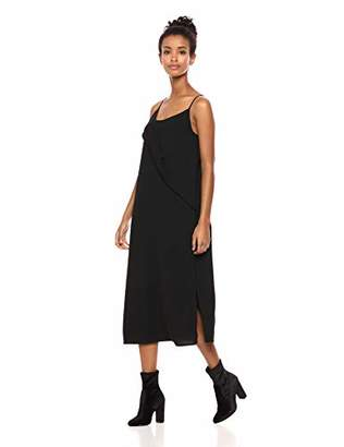 Serene Bohemian Women's Strap Dress Twisted Flounce Detail on The Front (