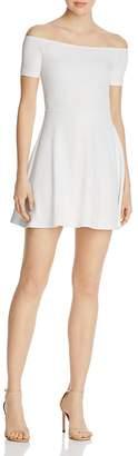 AQUA Off-the-Shoulder Dress - 100% Exclusive $78 thestylecure.com