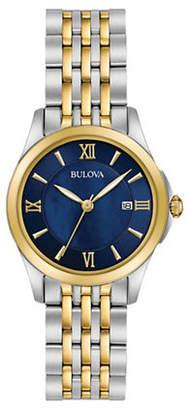 Bulova Analog Two-Tone Stainless Steel Bracelet Watch