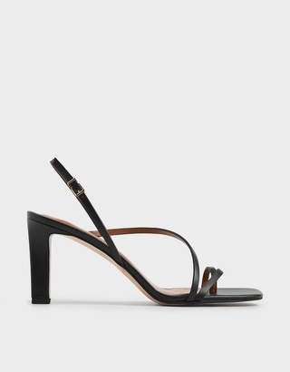 Charles & Keith Asymmetric Strap Open Toe Sandals
