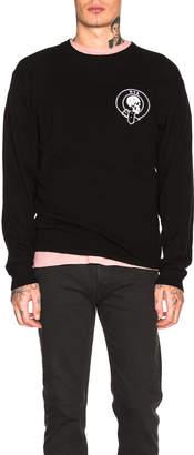 RtA Skull Cashmere Sweater in Black | FWRD
