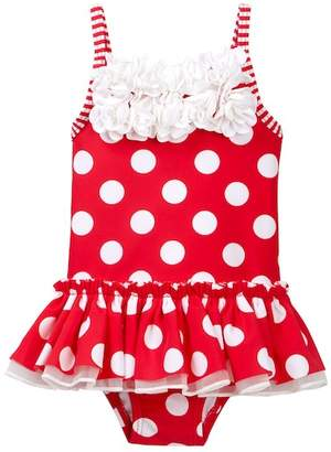 Little Me Big Dot Swimsuit (Baby Girls)