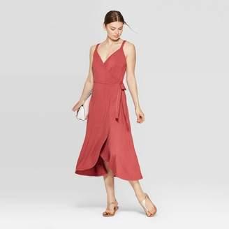 A New Day Women's Sleeveless V-Neck Knit Wrap Dress