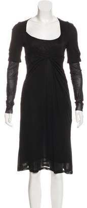 Antonio Berardi Long Sleeve Scoop Neck Dress