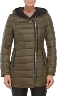 Sam Edelman Asymmetric Zip Packable Coat