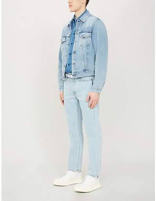 Acne Studios Faded wash denim jacket