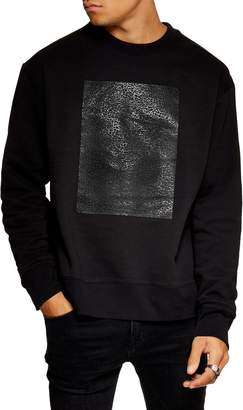 Topman Rubber Patch Crewneck Sweatshirt