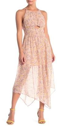 BCBGeneration Shirred Asymmetrical Dress