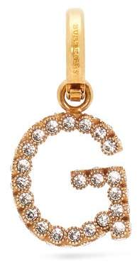 Burberry G Crystal Embellished Letter Charm - Womens - Crystal