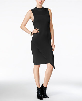Bar III Asymmetrical Bodycon Sweater Dress, Only at Macy's $89.50 thestylecure.com