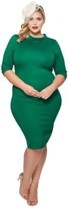 Unique Vintage Plus Size Cassidy Wiggle Dress Women's Dress