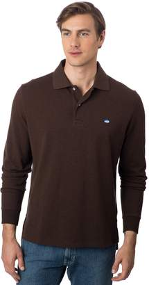 Southern Tide Long Sleeve Heathered Skipjack Polo