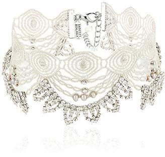 Badgley Mischka Lace & Pearl Choker Necklace