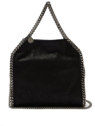 Stella McCartney Falabella Mini Faux Suede Cross Body Bag - Womens - Black