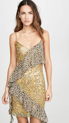 Endless Rose Spangle Leopard Pattern Dress