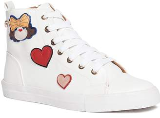 Love Moschino Scarpad Faux Leather High Top Sneaker