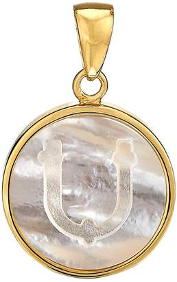 Asha Mother-of-Pearl Initial Charm