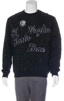 Dolce & Gabbana Ti Voglio Tanto Bene Wool Sweatshirt w/ Tags