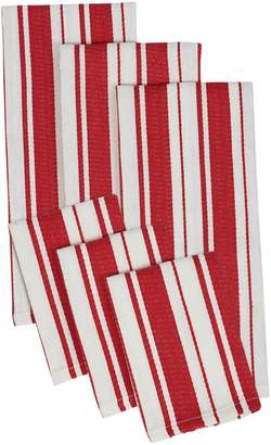 Design Imports Herringbone Stripe Dish Towel and Dish Cloth Set (6 PC)