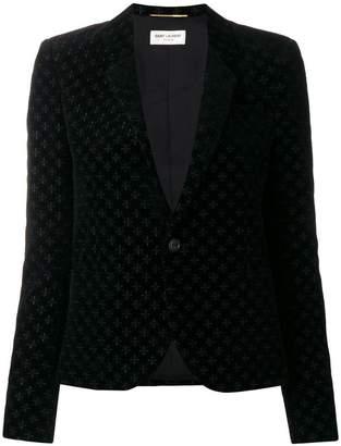 Saint Laurent embroidered patterned blazer