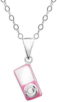 Jo for Girls Sterling Silver Pink Mp3 Player Pendant