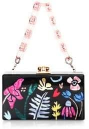 Edie Parker Women's Garden Delight Acrylic Box Bag - Black