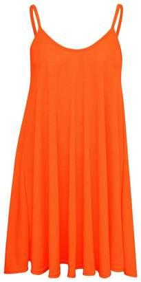 Fruit nut Womens Spaghetti Strap O-Neck Loose Knit Slip Dress XXL