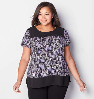 Avenue Abstract Houndstooth Blouse
