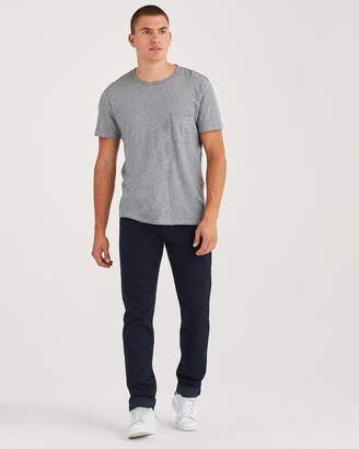 7 For All Mankind Luxe Sport Adrien Slim Tapered with Clean Pocket in Authentic Overlord