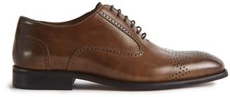 Reiss RILEY LEATHER OXFORD BROGUES Mid Brown