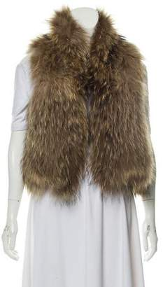 Yves Salomon Knitted Fur Vest