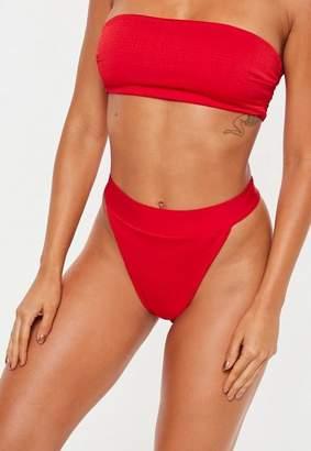 Missguided Shee High Leg Tanga Bikini Bottoms