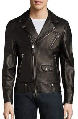 Mackage Asymmetrical Zip Leather Jacket