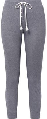 Skin - Marci Striped Pima Cotton Track Pants - Midnight blue