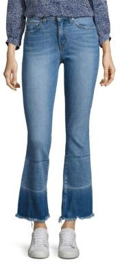 Derek Lam 10 Crosby DEREK LAM 10 CROSBY DENIM Jane Flip Flop Cropped Flared Jeans $265 thestylecure.com