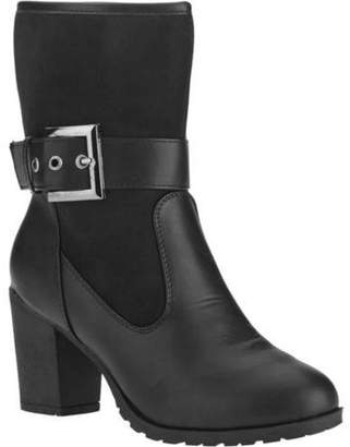 FOREVER YOUNG Forever Young Women's Buckle Strap Ankle Bootie