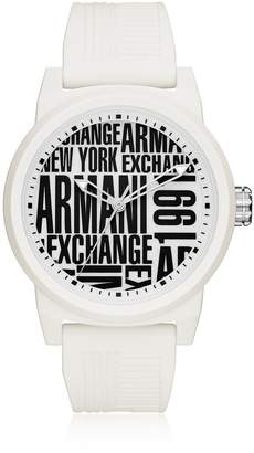 Armani Exchange Atlc White Silicone Men's Watch